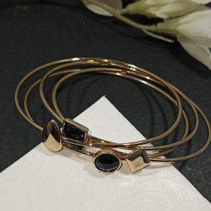 Brand New! Gold and Black Bangle Bracelets